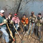 EMBA Board Members with Trail Volunteers